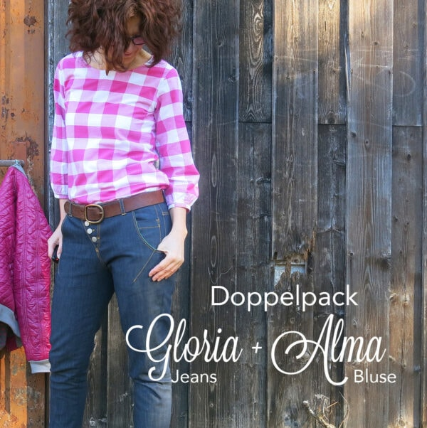 Jeans Gloria und Bluse Alma, Doppelpack