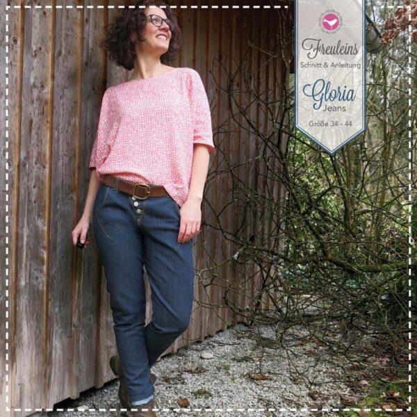 Jeans Gloria in Gr. 34-44 - Schnittmuster und Nähanleitung