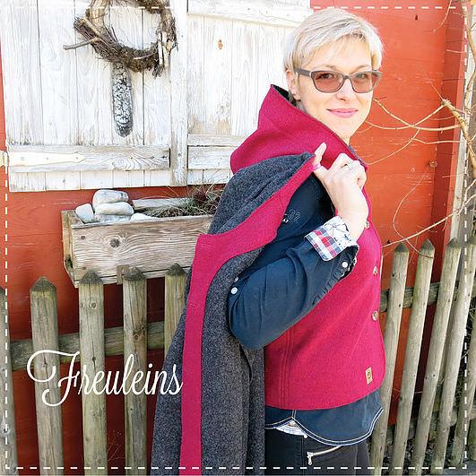 Anne und ihre Long-Jacke