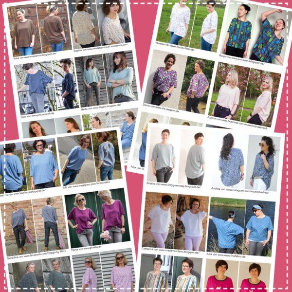 Shirt Jolanda in Gr. S-XL - Papierschnittmuster