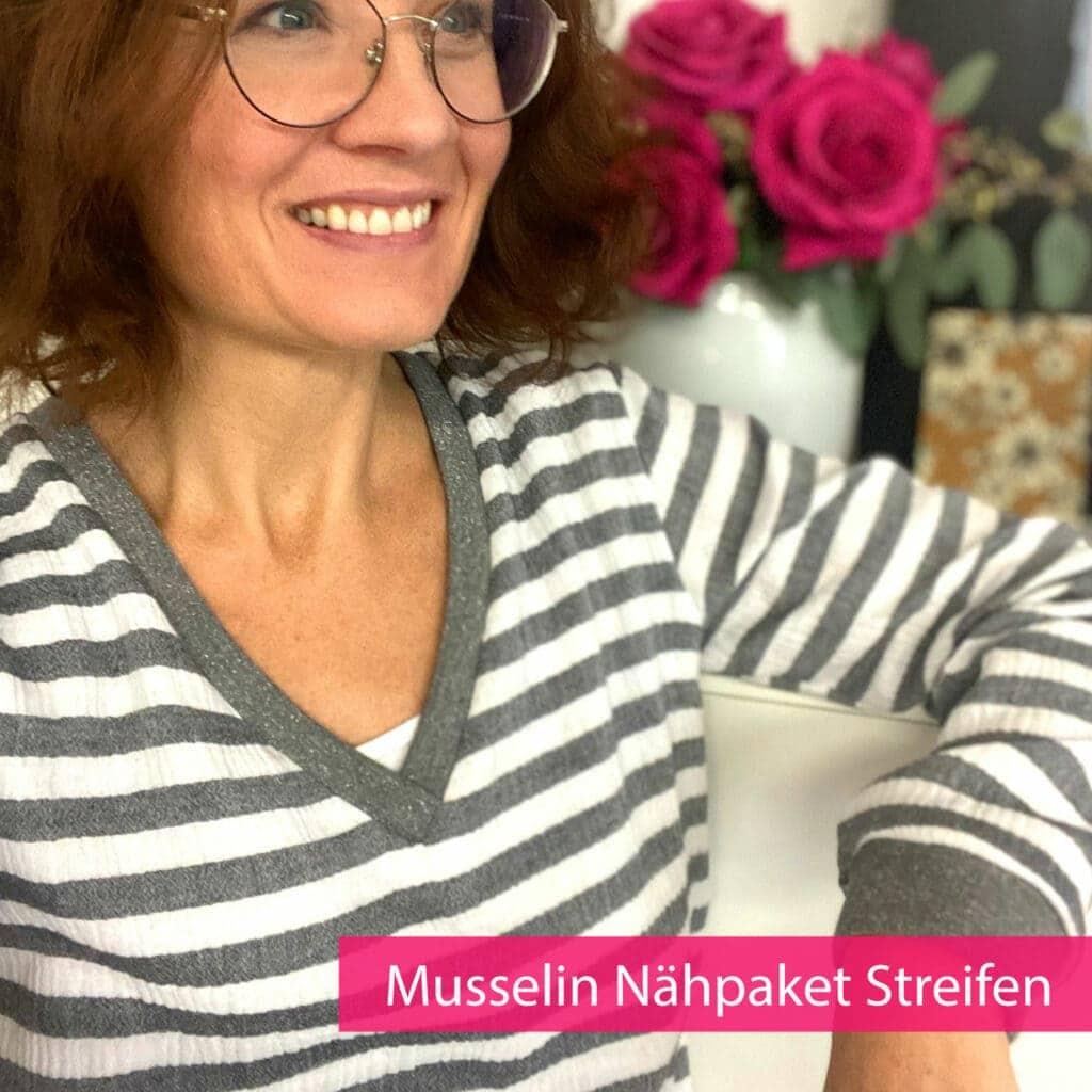 Musselin-Streifen-Cover