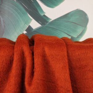 Jacken/Mantelstoff Hairy - rostrot