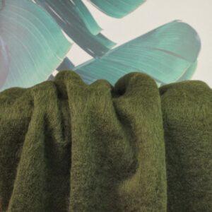 Jacken/Mantelstoff Hairy - waldgrün