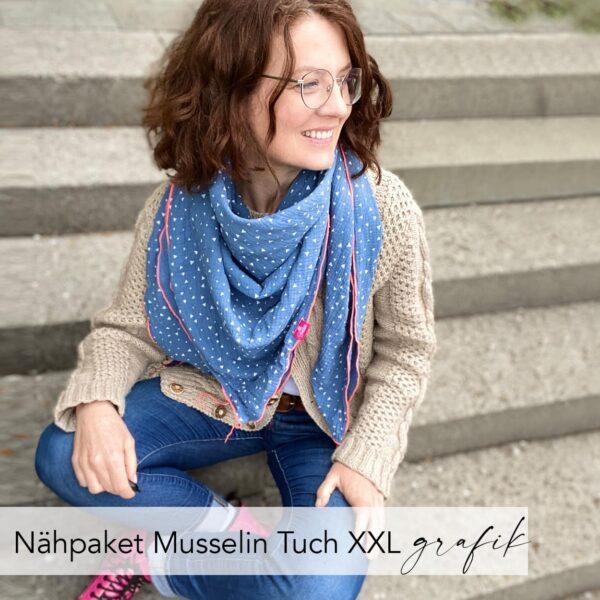Nähpaket Musselin-Tuch XXL grafik