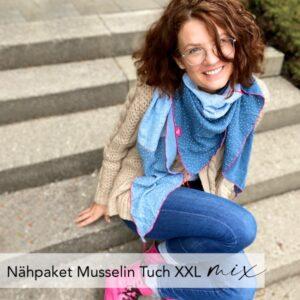 Nähpaket Musselin-Tuch XXL mix