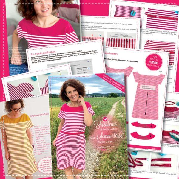 Kleid Sommerbrise - Papierschnittmuster
